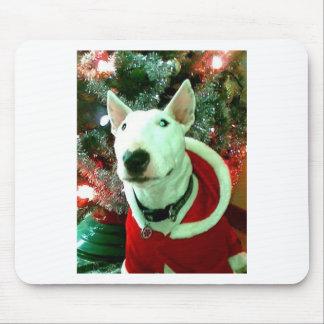 bull terrier christmas mousepad