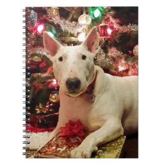 bull terrier christmas notebook