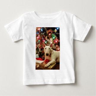 bull terrier christmas present tree shirt