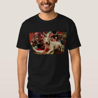 bull terrier christmas t shirt