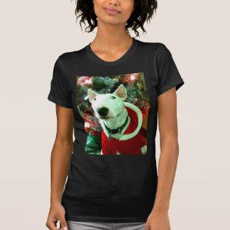 bull terrier christmas tshirt