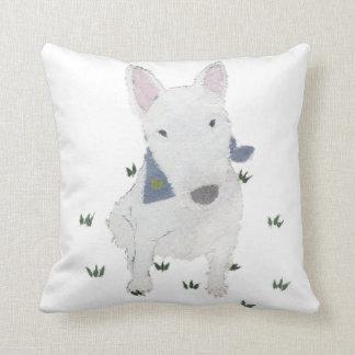 Bull terrier cojín decorativo