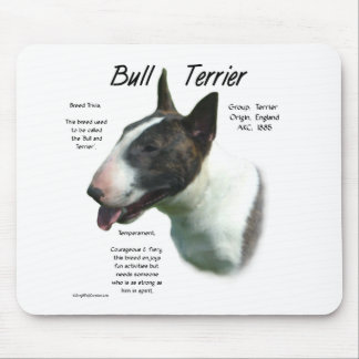Bull Terrier (colored) History Design Mouse Pad