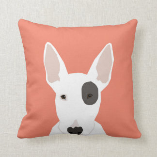 Bull Terrier cute terrier dog black and white dog Throw Pillow