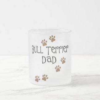 Bull Terrier Dad 10 Oz Frosted Glass Coffee Mug