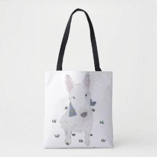 Bull Terrier, Dog Art, Modern Tote Bag