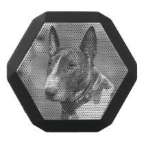 Bull Terrier dog Black Bluetooth Speaker