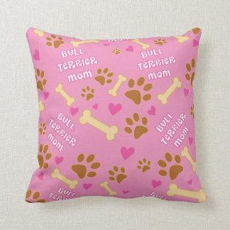 Bull Terrier Dog Breed Mom Gift Idea Throw Pillow