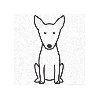 Bull Terrier Dog Cartoon Canvas Print