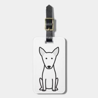 Bull Terrier Dog Cartoon Luggage Tags