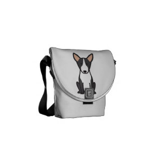 Bull Terrier Dog Cartoon Messenger Bags