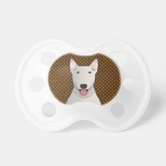 Bull Terrier Dog Cartoon Paws Pacifier