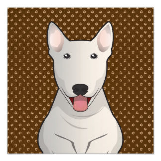 Bull Terrier Dog Cartoon Paws Photo Print