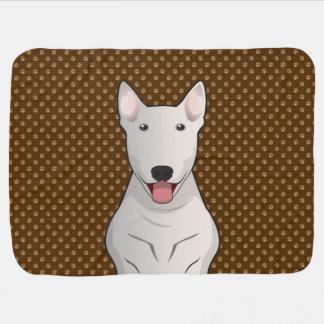 Bull Terrier Dog Cartoon Paws Stroller Blanket