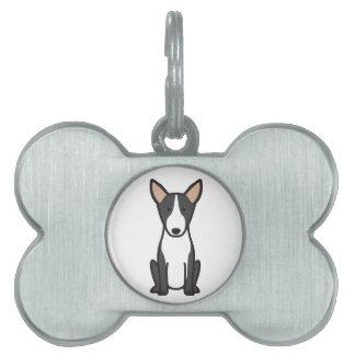 Bull Terrier Dog Cartoon Pet Name Tag