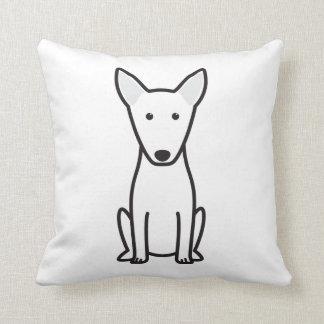 Bull Terrier Dog Cartoon Pillow