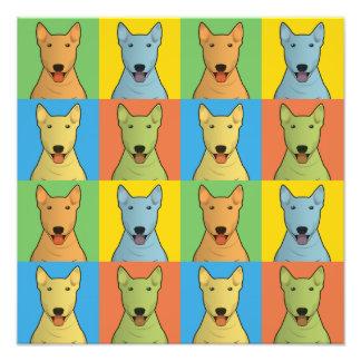 Bull Terrier Dog Cartoon Pop-Art Photo Art