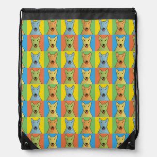 Bull Terrier Dog Cartoon Pop-Art Cinch Bag