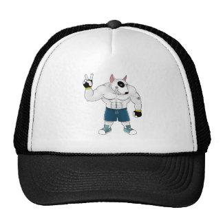 bull terrier dog  fight trucker hat