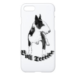 iPhone 7 Case with Bull Terrier Phone Cases design