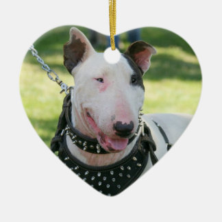Bull Terrier dog ornament