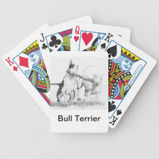 Bull Terrier Dog Playing Cards