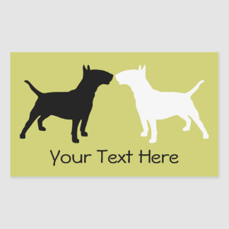 Bull Terrier Double Silhouette Stickers