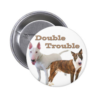 Bull Terrier Double Trouble Button