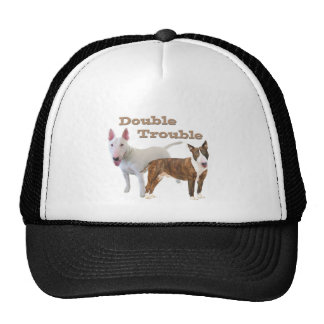 Bull Terrier Double Trouble Casual Apparel Mesh Hats