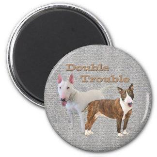 Bull Terrier Double Trouble Fridge Magnets