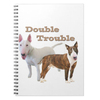 Bull Terrier Double Trouble Notebook