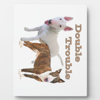 Bull Terrier Double Trouble Plaques