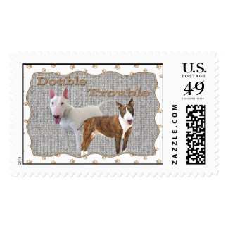 Bull Terrier Double Trouble Postage