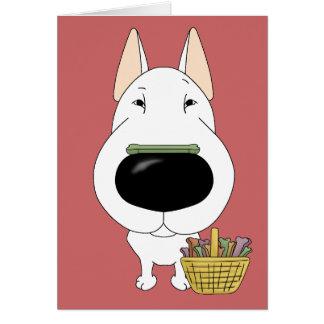 Bull Terrier - Easter Bone Hunt, Anyone? Greeting Card