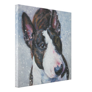 bull terrier Fine Art on Gallery Wrapped Canvas