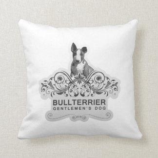 Bull terrier Gentlemen´s Dog //PILLOW Throw Pillow