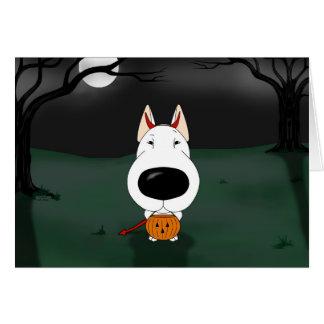 Bull Terrier Halloween Greeting Card