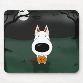 Bull Terrier Halloween Mouse Pad