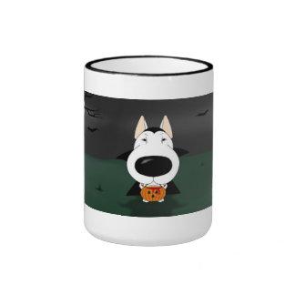 Bull Terrier Halloween Vampire Ringer Coffee Mug