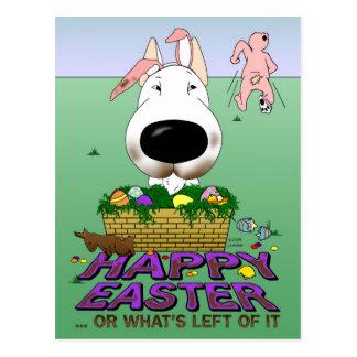 Bull Terrier Happy Easter Postcard