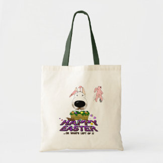 Bull Terrier Happy Easter Tote Bag