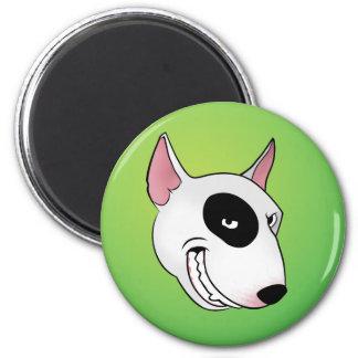bull terrier head magnet