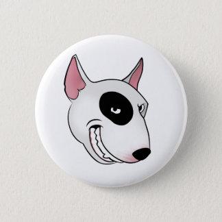 bull terrier head pinback button