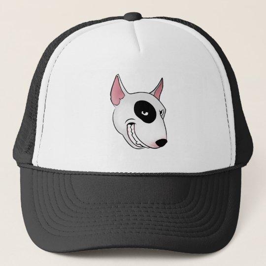 bull terrier head trucker hat