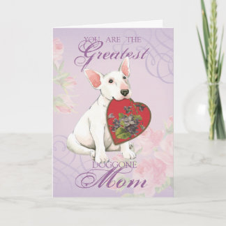 Bull Terrier Heart Mom Card