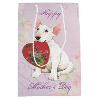 Bull Terrier Heart Mom Medium Gift Bag