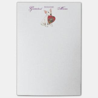 Bull Terrier Heart Mom Post-it Notes