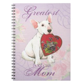 Bull Terrier Heart Mom Spiral Notebook