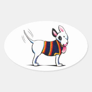 Bull Terrier in Blue Stickers