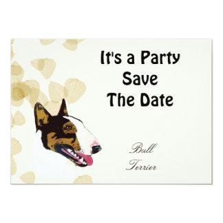 Bull Terrier 4.5x6.25 Paper Invitation Card